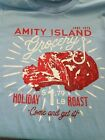"""Amity Island Grocery Holiday Roast distressed T Shirt """"Come and get it!"""" JAWS"""