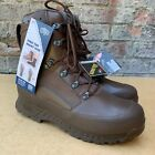 UK BRITISH ARMY SURPLUS ISSUE HAIX HIGH LIABILITY COMBAT BOOT MALE BROWN LEATHER