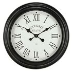 Wyegate Large Radio Controlled Indoor/Outdoor Garden Wall Roman Numeral Clock <br/> 12 Months Guarantee - 30 Days Return - Free Delivery