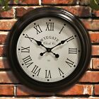 Wyegate Large Radio Controlled Indoor/outdoor Garden Wall Roman Numeral Clock