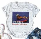 YUYUEYUE Hotter Than A Hoochie Coochie T Shirt Women Country Music Graphic Funny