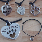 Dog Cat Animal Charm Paw Best Friend Bracelet Wish Friendship Hippy Wristband