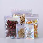 100x Silver Laser Aluminum Mylar Plastic Zip Lock Bag Food Grade Pouches Package