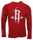 Adidas NBA Basketball Men's Houston Rockets Long Sleeve Thermal Shirt - Red on eBay