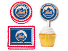 New York Mets Edible Birthday Party Cake Topper Plastic Cupcake Picks on Ebay