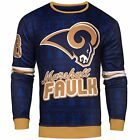 NFL Men's St. Louis Rams Marshall Faulk Retired Player Ugly Sweater