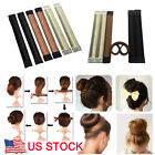 2xHair Bun Maker Donut Styling Bands Former Foam French Twist Snap DIY Easy Tool