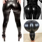 Women's Solid Color High Waist Long Leggings Chaparejos Leather Pants GIFT