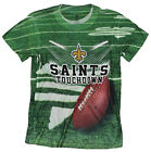 New Orleans Saints TOUCHDOWN NFL Youth T-shirt Shirt, Green $8.99 USD on eBay