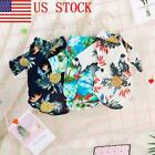 US New Pet Dog Hawaiian Shirt Beach Clothes Vest Floral Printed Top For Dog 03