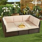 Garden Gear 6piece Rattan Furniture Daybed & Table Set Outdoor Sofa Patio Seater