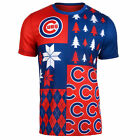 FOCO MLB Men's Chicago Cubs Busy Block Ugly Crew Neck Tee on Ebay