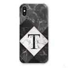 INITIALS IPHONE CASE PERSONALISED GREY MARBLE HARD COVER FOR APPLE IPHONE XS…