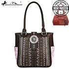 Montana West Concealed Handgun Tote Bag with Antique Silver Buffalo Head Concho image