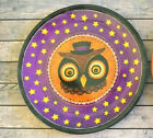 "Halloween Melamine Plates 9"" Set of 6 Owl NEW Party Spooky"
