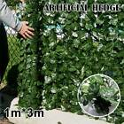 1*3m Artificial Ivy Leaf Fence Green Garden Yard Privacy Screen Hedge Plants  A
