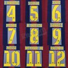 2014-15 Barcelona Player Issue Home Name Set Sipesa for Shirt Jersey