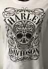 Harley Davidson Women's Keen Skull Short Sleeve Shirt White   R003294 $32.0 USD on eBay