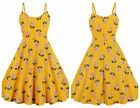 Women's Vintage Halter Neck 1950s Rockabilly Casual Cocktail Party Swing Dress