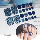 Multicolor Toenail Sticker Holographic Nail Polish Wrap Full Cover Self-Adhesive $1.1 USD on eBay