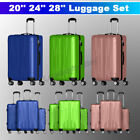 Kyпить 3 Pieces Luggage Set Travel Bag ABS Trolley Spinner Suitcase w/Lock 20