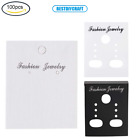 100Pcs Plastic Earring Display Cards Jewelry Display Tags for Earrings Pendants