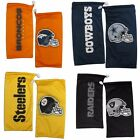 NFL Microfiber Drawstring Sunglasses Bag Pouch and Cleaning Cloth - Pick Team $6.25 USD on eBay