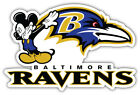 Baltimore Ravens Mickey Mouse NFL Sport Car Bumper Sticker Decal ''SIZES'' $4.75 USD on eBay