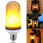 E27 LED Flame Effect Fire Light Bulb Xmas Party Bar Flickering Nature Fire Lamp