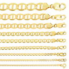 """10K Yellow Gold Solid 2mm-10.5mm Mariner Anchor Chain Necklace Bracelet 7""""- 30"""" image"""