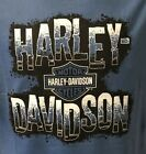 Harley Davidson Men's Negative Logo Short Sleeve Shirt Denim Blue  R003245 $28.0 USD on eBay
