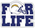"""Los Angeles Chargers For Life NFL Sport Car Bumper Sticker Decal """"SIZES'' $3.75 USD on eBay"""