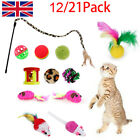 New Bulk Buy Cat Kitten Toys Rod Fur Mice Bells Balls Catnip 12/21 items UK F