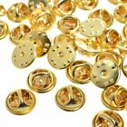 Brass Clutch Clasp Butterfly Military Pin Backs Guards Gold Chrome Silver 20pk