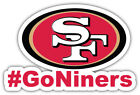 San Francisco 49ers Hashtag NFL Sport Car Bumper Sticker Decal ''SIZES'' $4.25 USD on eBay