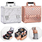 Professional Cosmetic Makeup Vanity Case Brush Storage Carry Box With Mirror
