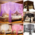 Princess Bed Canopy Mosquito Netting Frame/Post  Insect Net Twin Full Queen New image