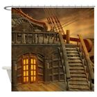 CafePress Onboard Pirate Ship Shower Curtain (1484223560)