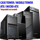 case cabinet pc computer desktop fisso micro atx middle tower alimentatore 500w