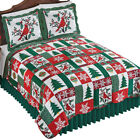 Collections Etc Christmas Icons Quilt HOLIDAY COLORS FULL/QUEEN image