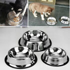 Stainless Steel No tip Non SLIP Dog Puppy Pet Food Water Bowl Dish12/32/64oz#^