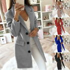 Women Coat Long Sleeve Turn-Down Collar Warm Autumn Winter Business Jackets GIFT
