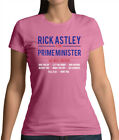 Rick Astley For Prime Minister - Womens T-Shirt - 80s 80's Rolled Song Lyrics