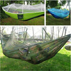 Top Portable High Strength Parachute Fabric Camping Hammock With Mosquito Net UN