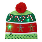 Christmas Tree Snowflake Gingerbread Man LED Light Knitted Cap Beanie Hat Rare