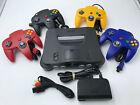 Choose Nintendo 64 Console Color + Up to 4 Controllers + Cords! CLEANED N64!