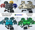 Kyпить Choose Nintendo 64 Console Color + Up to 4 Controllers + Cords!  CLEANED N64! на еВаy.соm