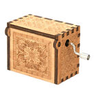 Wooden Hand Crank Music Box Harry Potter Game of Thrones Engraved Craft Toy New