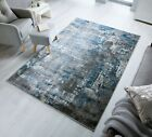 SMALL - LARGE ABSTRACT DISTRESSED FADED PILE VINTAGE-LOOK RUGS & RUNNERS