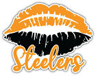 "Pittsburgh Steelers Lips Nfl Sport Car Bumper Sticker Decal ""sizes''"